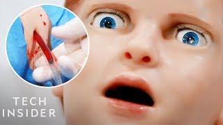 Download Lifelike Medical Robot Actually Bleeds Video