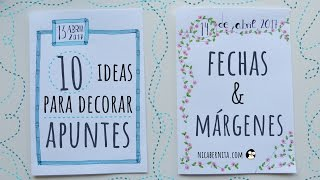 Download 10 IDEAS PARA DECORAR APUNTES, CUADERNOS O AGENDAS 📓 FECHAS Y MÁRGENES (NICA BERNITA) Video