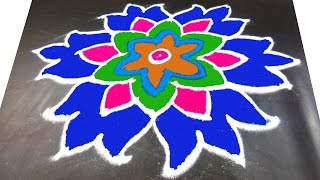 Download #141 - Easy and Beautiful Pongal Kolam for Festivel | Sankranthi Muggulu Rangoli by sunitha 7x4 dots Video