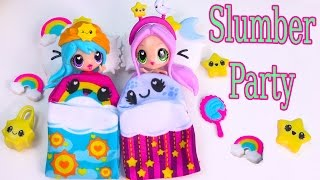 Download Kawaii Crush Sleep Over Day and Night BFF Slumber Party Doll Playset Pack Cute Stars Rainbows Video