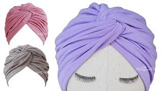 Download Twisted Turban Hat Sewing Pattern - Turban Hat DIY Video