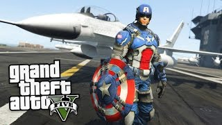 Download GTA 5 Mods - CAPTAIN AMERICA ″MODERN SOLDIER″ MOD!! (GTA 5 Mods Gameplay) Video