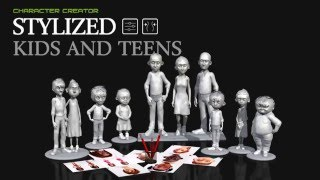 Download Character Creator - Stylized Kids & Teens Promo Trailer Video