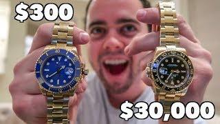 Download $300 ROLEX Vs. $30,000 ROLEX - WORTH IT? Video