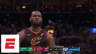 Download [Game 6] LeBron James hits back-to-back dagger 3s with Jayson Tatum in his face both times   ESPN Video