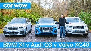 Download Audi Q3 vs BMW X1 vs Volvo XC40 - which is the best posh small SUV? Video