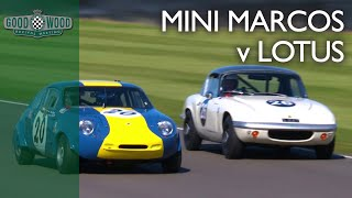 Download Wild Mini Marcos v Lotus Elan fight at Revival Video