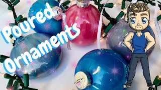 Download Holiday Acrylic Pour Painting Tutorial - Christmas Ornaments Video