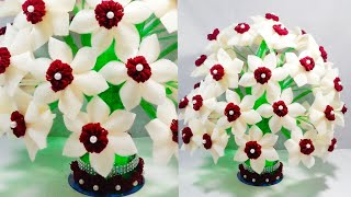 Download DIY FOAM GULDASTA/NEW DESIGN PLASTIC BOTTLE FLOWER POT/WOOLEN GULDASTA/VASE Video