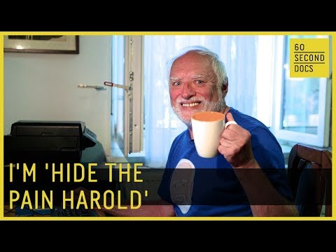 Hahaa Hide The Pain Harold Meme Greeting Card By Mash701 Redbubble