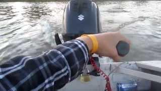 Download New Suzuki 6HP 4-stroke outboard on my Fiskars Kello 2 boat Video