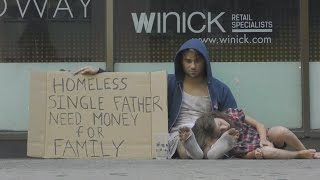 Download Homeless Drug Addict VS Homeless Father(Social Experiment) Video