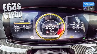 Download Mercedes-AMG E63s (612hp) - 0-250 km/h RACE START (60FPS) Video