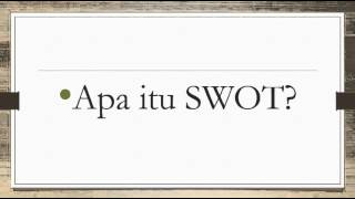 Download Analisis SWOT/TOWS Video
