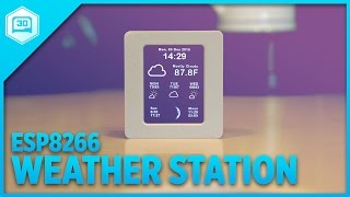 Download ESP8266 WiFi Weather Station with Color TFT Display Video