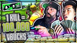 Download 1 Kill = 100,000 V-Bucks in Fortnite w/ My Dad (Battle Royal) Video