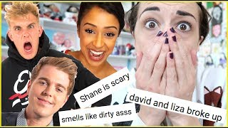 Download READING FAMOUS YOUTUBERS HATE COMMENTS Video
