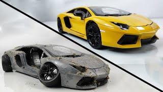 Download Restoration Damaged Lamborghini - Old SuperCar Aventador Model Car Restoration Video