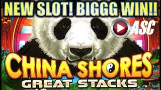 Download ★FIRST LOOK! BIG WIN!!★ NEW CHINA SHORES GREAT STACKS (Konami) Slot Machine Bonus Video