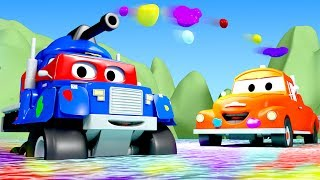 Download Carl the Super Truck is Carl The Tank in Car City | Trucks Cartoon for kids Video