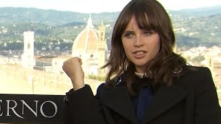 Download Felicity Jones Shows Off Star Wars Kung Fu Moves - Inferno Junket Video