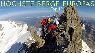 Download Climbing the highest mountains in Europe, Top 10 Video