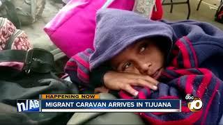 Download Migrant caravan arrives in Tijuana Video