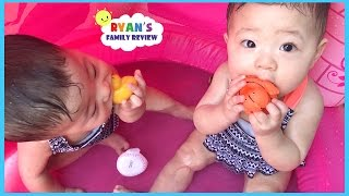 Download Babies and Kids Family Fun Pool Time with Rubber Ducky! Ryan's Family Review Video