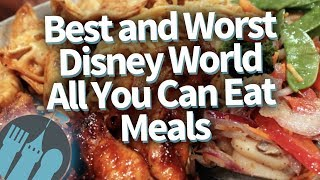 Download The BEST and WORST Disney World All You Can Eat Meals Video
