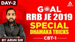 Download RRB JE 2019 CBT 1 | Maths | Day 2| Arun Sir | Railways JE 2019 Video