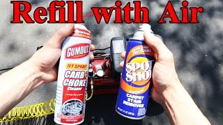 Download How to Refill an Aerosol Spray Can (Like Carb Cleaner, WD40, etc) Video