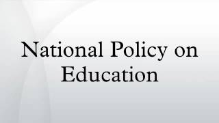Download National Policy on Education Video