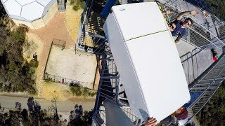Download WE DROPPED A FRIDGE OFF A 45m TOWER!! Video