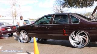 Download WhipAddict: 96' Chevrolet Caprice tuckin Amani Forged Petto 26s, Yukon Interior, Car Audio Video