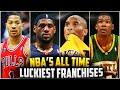 Download The Luckiest NBA Franchises of All-Time! DERRICK ROSE! JORDAN! DURANT! LEBRON! Video