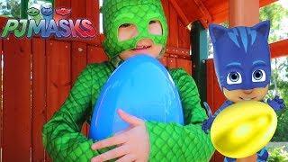 Download Gekko Finds Toy Surprise Eggs - PJ Masks Toys Compilation Video