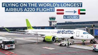 Download TRIPREPORT | Air Baltic (ECONOMY) | Riga - Abu Dhabi | Airbus A220-300 (Bombardier CS-300) Video