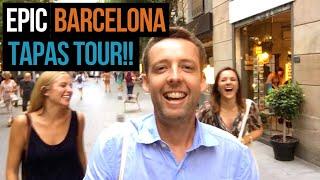 Download BEST Tapas in Barcelona! 🙌 We visit 8 AMAZING tapas bars! Video