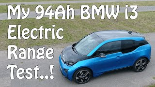 Download 94Ah BMW i3 Battery Range Test - Real World General Commuting - 124 Miles Achieved Video