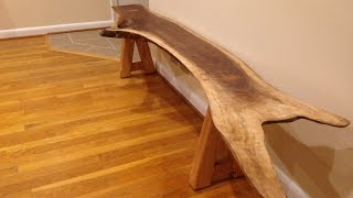 Download Creating my Live Edge Slab Bench Video