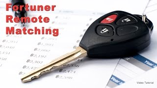 Download Toyota Fortuner Remote Matching Video