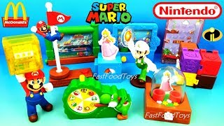 Download 2018 McDONALD'S SUPER MARIO HAPPY MEAL TOYS FULL SET 10 NINTENDO KIDS INCREDIBLES 2 UNBOXING UK EURO Video