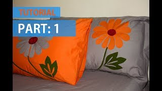 Download TUTORIAL 01: Applique (Aplic) Work Design: Hand Made Bed Sheet and Pillow Covers Video