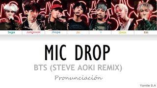 Download BTS - Mic Drop (Steve Aoki Remix)   Letra Fácil (Pronunciación en Español) Video