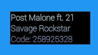 ROBLOX SAVAGE MUSIC ID CODES! Free Download Video MP4 3GP M4A