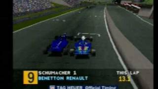 Download Playstation PS1 F1 Formula 1 1995 Spa Benetton (8) Video