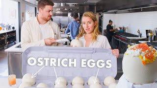 Download Pro Chef Learns How to Cook Ostrich Eggs | Bon Appétit Video