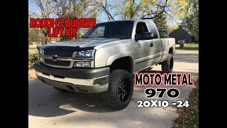 Download Rough Country 3'' Lift Kit with 20x10 -24 Moto Metal 970 wheels for the Duramax Diesel || EP. 32 Video