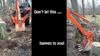 Download how to dig up tree stumps with a small tractor backhoe Video