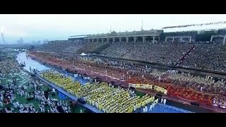 Download 1050 priests enunciate mantras and Sri Sri's World Culture festival begins Video